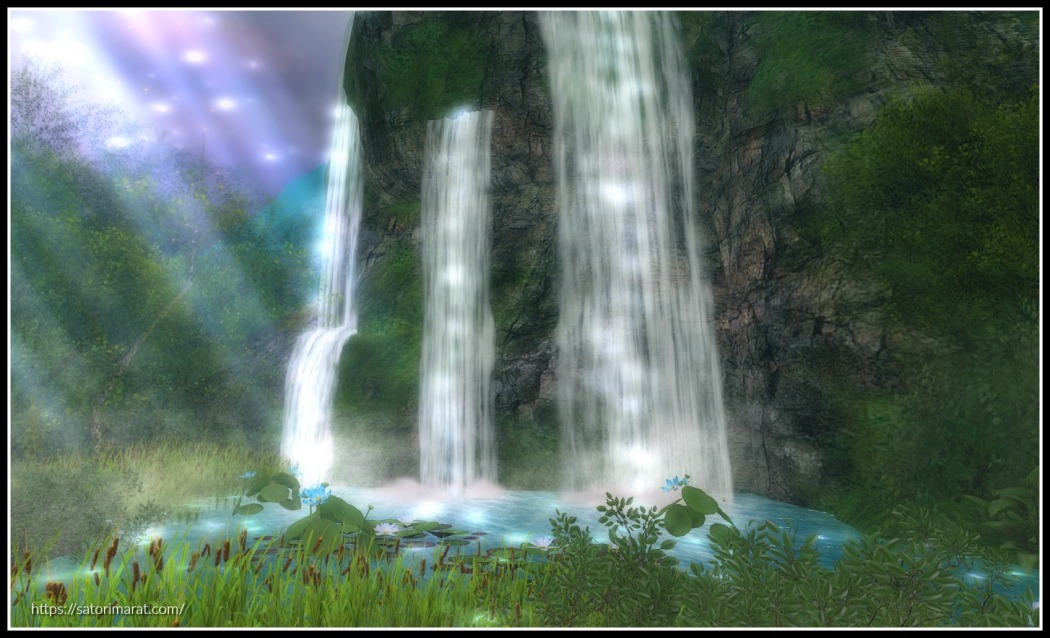 Waterfalls cropped and edited with frame