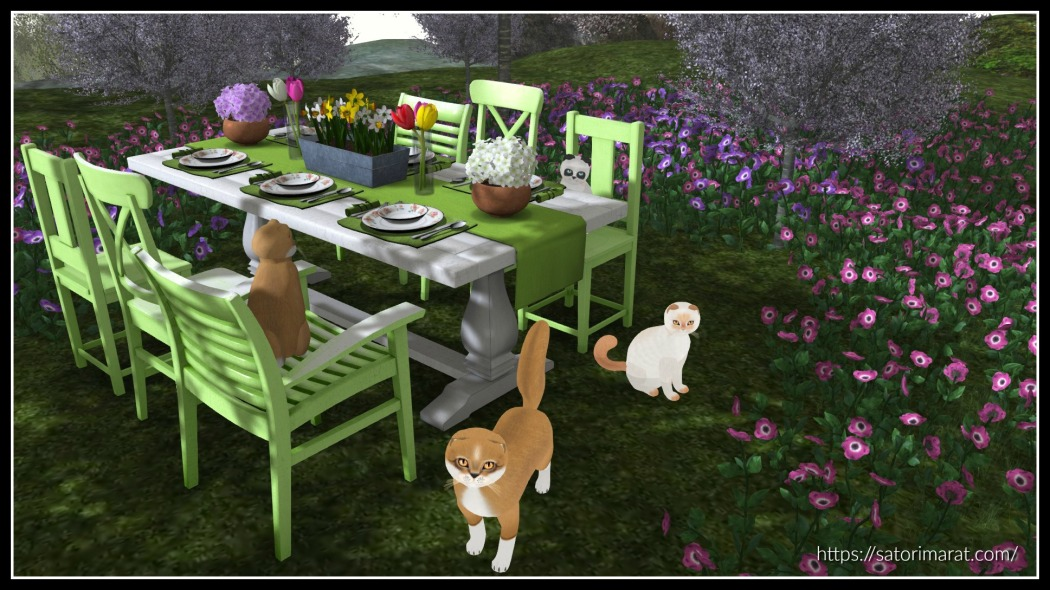 Newchurch Spring Party Dining Set with frame