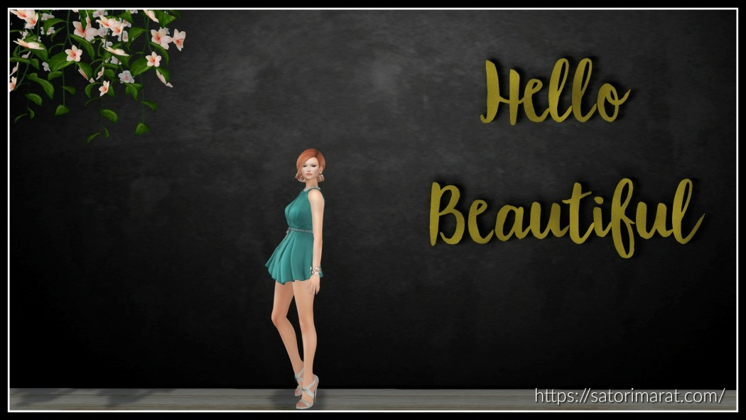 Hello Beautiful Backdrop with frame